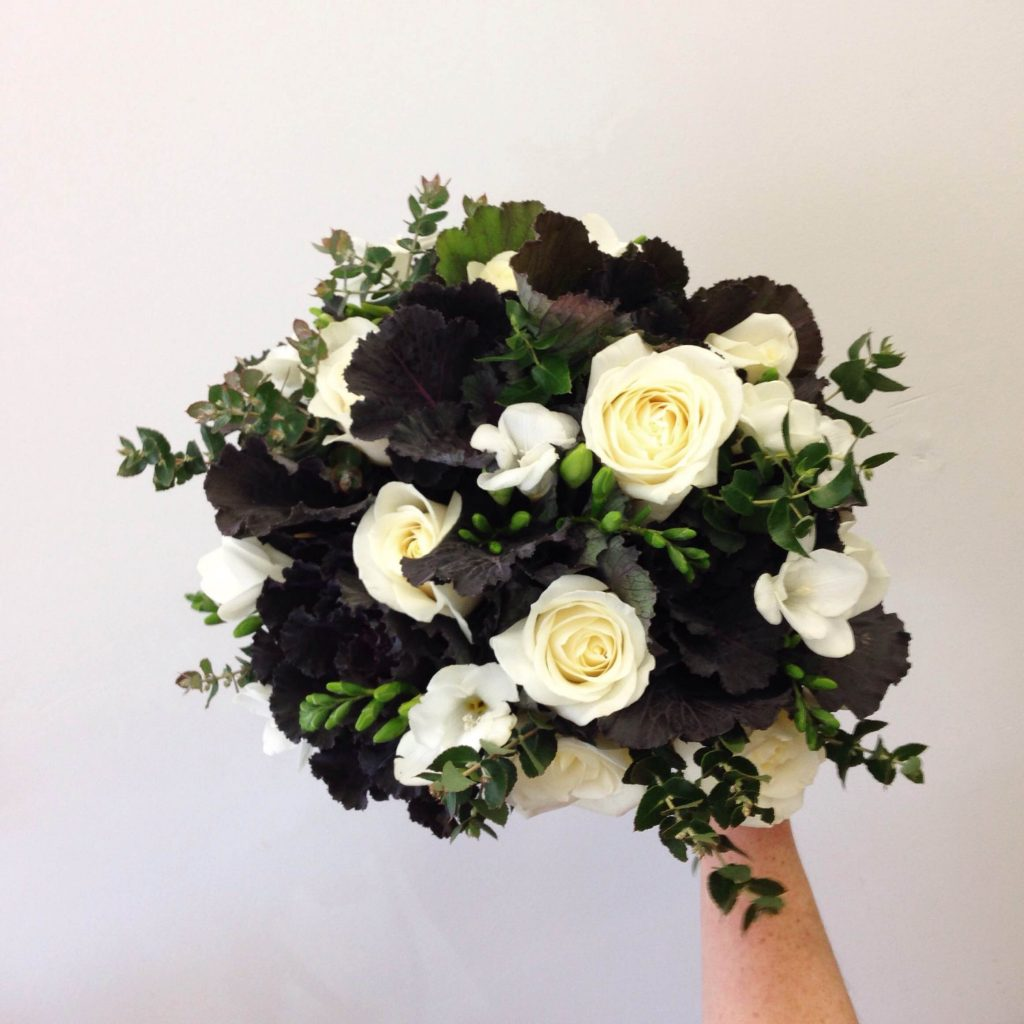 Bouquet using non-traditional foliage